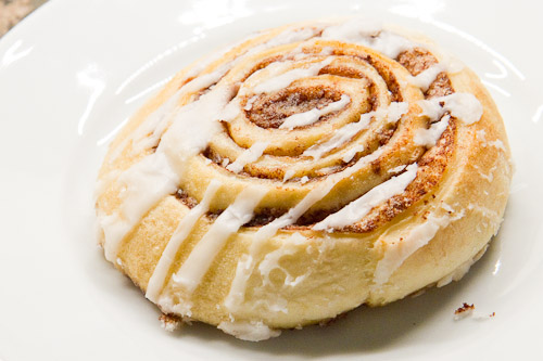New Moon Cafe and Bakery cinnamon roll